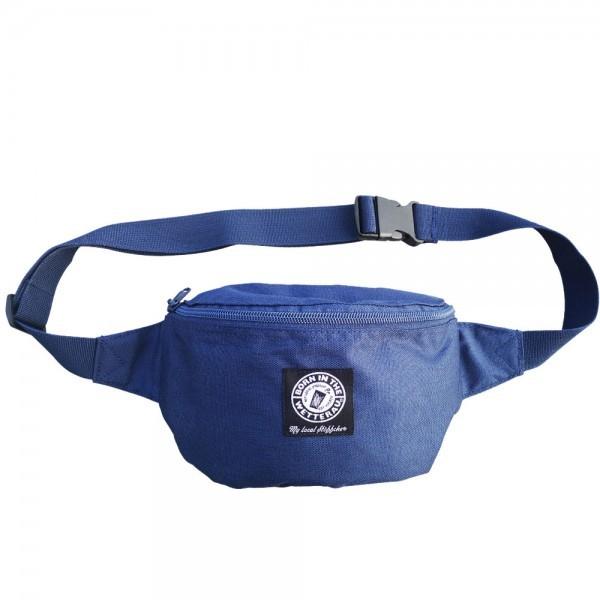 Hipbag blau Logo Patch
