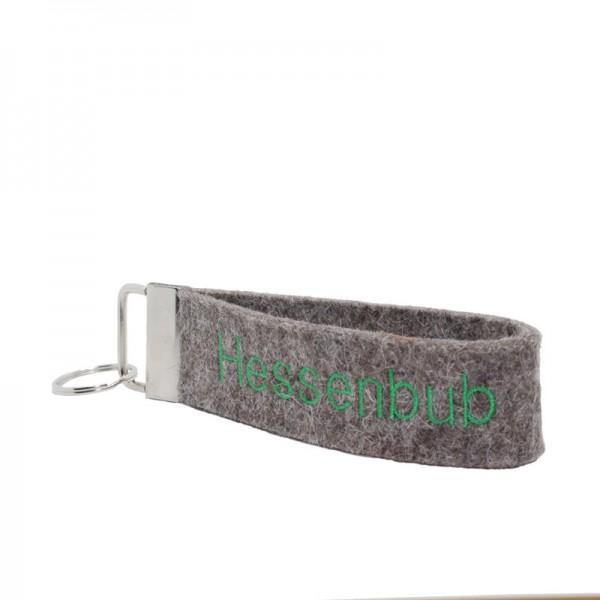 "Schlüsselanhänger ""Platzhirsch"", grau / kiwi"