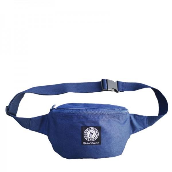 blauer Hipbag mit BITW Patch