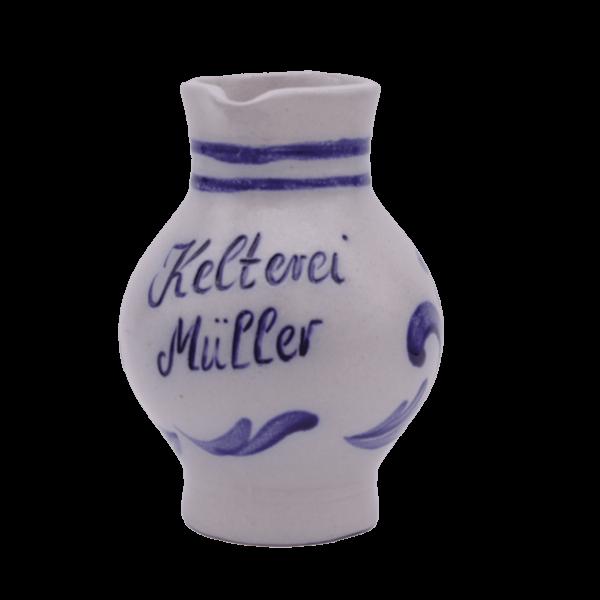 Kelterei Müller 0,25 Liter Bembel frontal