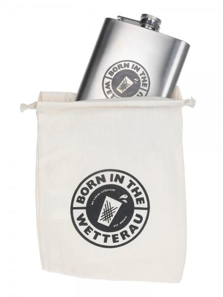 Flachmann 8 oz + mini BITW Beutel