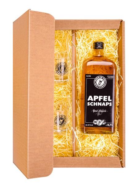 Apfelschnaps Geschenkbox