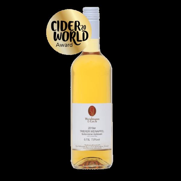 Trierer Weinapfel Apfelwein von Weidmann und Groh aus der Wetterau