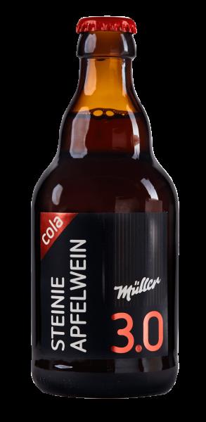 Müller Apfelwein mit Cola in Steinie-Glasflasche